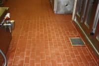 Schäden Klinkerplatten Großküche
