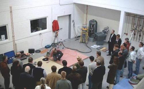 Workshop in der Prüfhalle